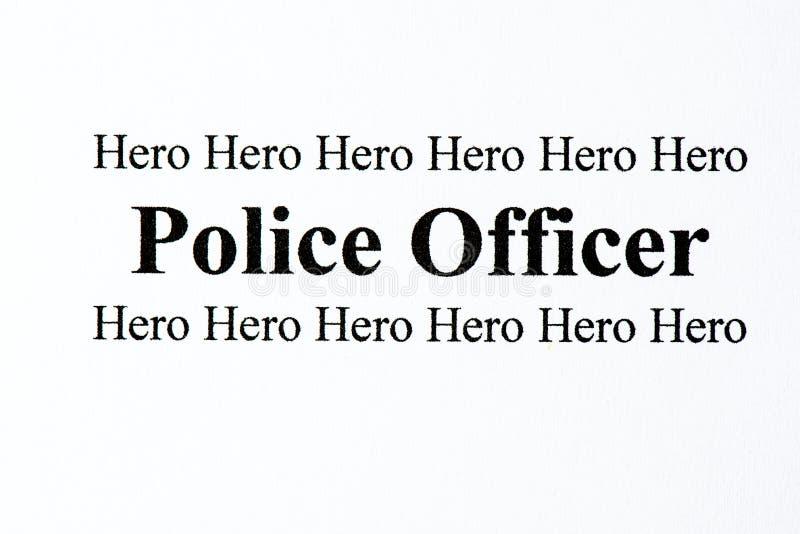Eroe della polizia immagini stock libere da diritti