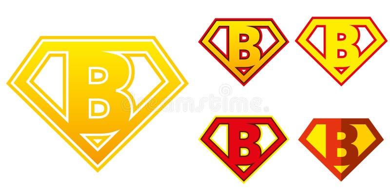 Eroe eccellente Logo Letters Superhero Alphabet illustrazione vettoriale