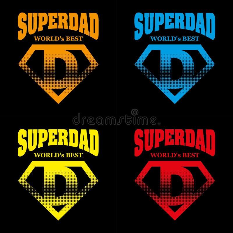Eroe eccellente Logo Supehero Letters del papà illustrazione vettoriale