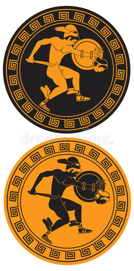 Eroe Mythical Perseus illustrazione vettoriale