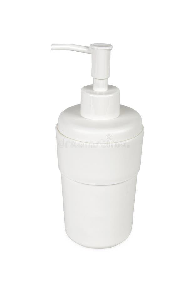Erogatore di plastica del sapone immagini stock