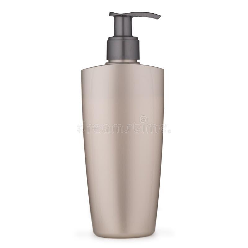 Erogatore di plastica del sapone della mano su fondo bianco immagine stock libera da diritti