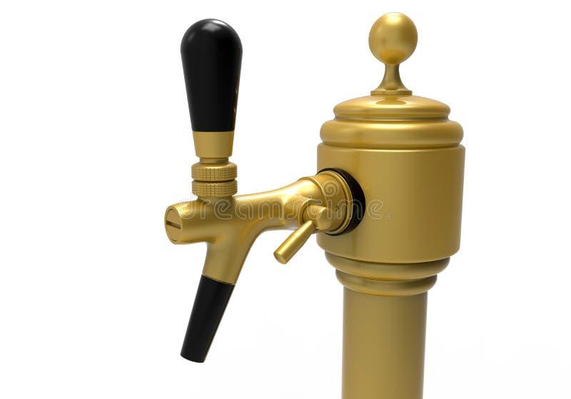 Erogatore dorato dell'acqua illustrazione di stock