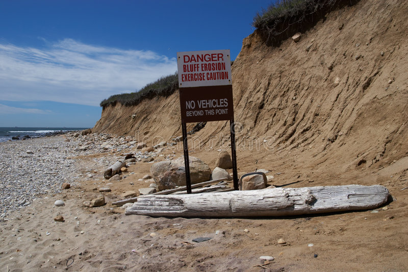 Erosão de praia fotos de stock royalty free
