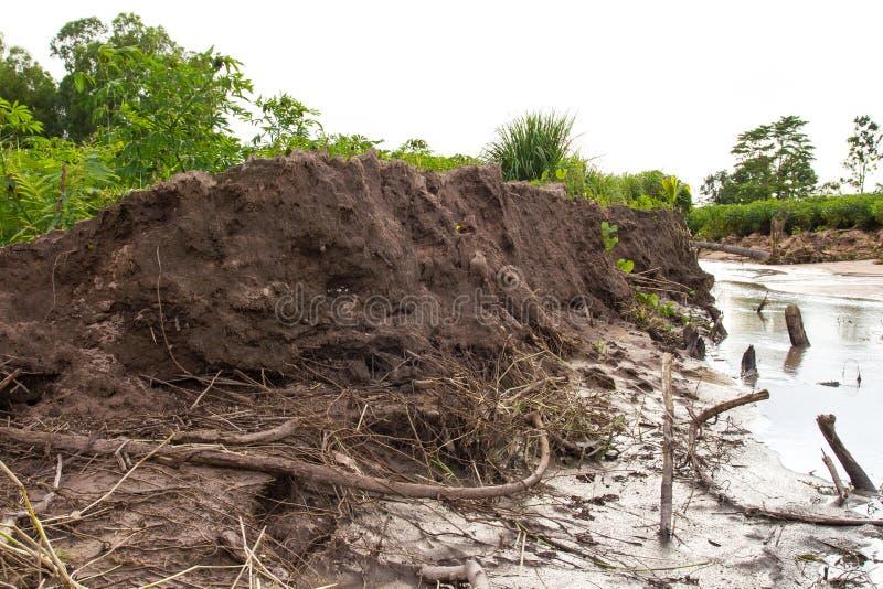 Erosão do solo dos corrimentos fotos de stock