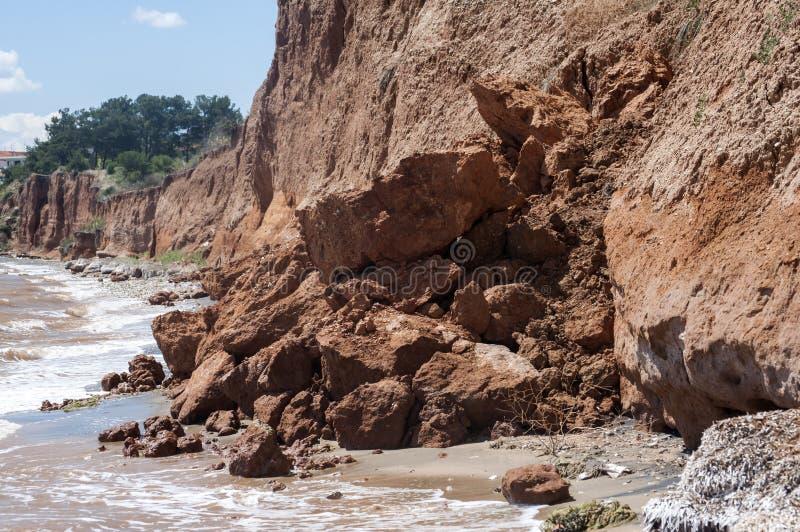 Erosão litoral do beira-mar imagem de stock royalty free
