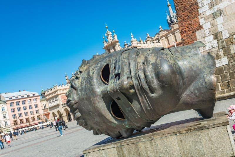 'Eros Bendato' sculpture in Krakow, Polen fotografering för bildbyråer