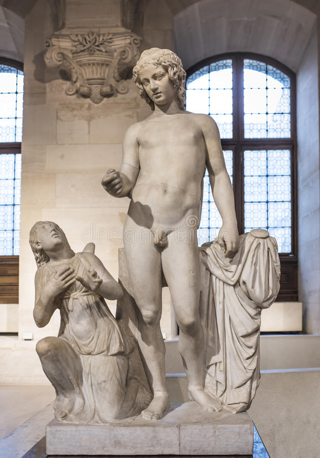 Eros en Psyches Inzameling Borghese Het Louvre royalty-vrije stock afbeeldingen