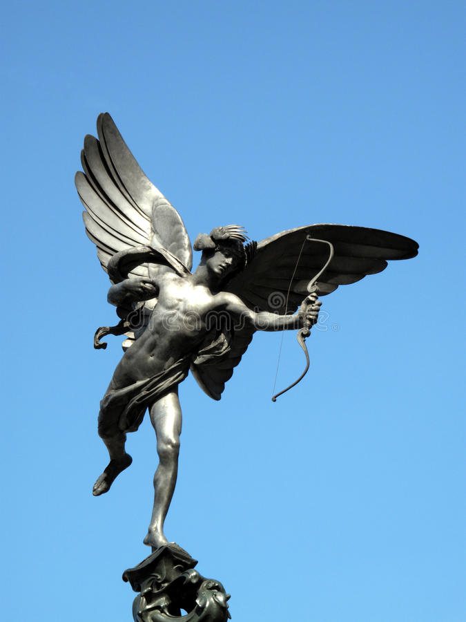 Download Eros Statue In Piccadilly Circus London Stock Image - Image: 10550741