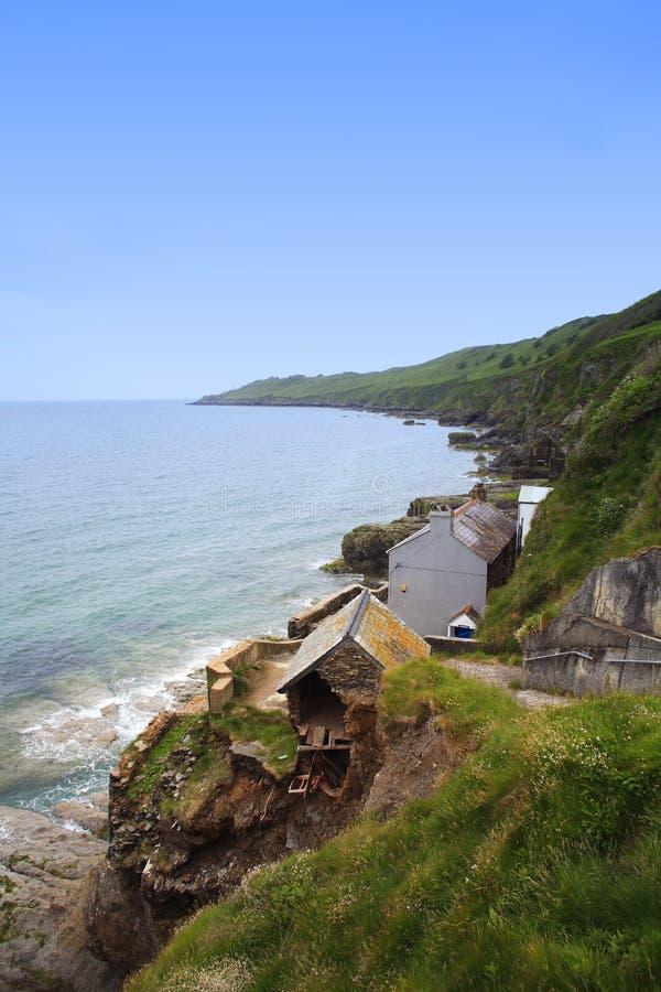 erosión costera en la costa del devón sur, imágenes de archivo libres de regalías