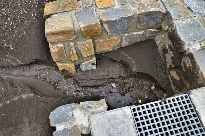 Erosión de agua del suelo imagenes de archivo
