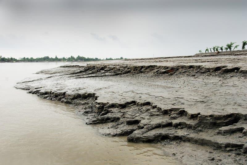 Erosión del río foto de archivo