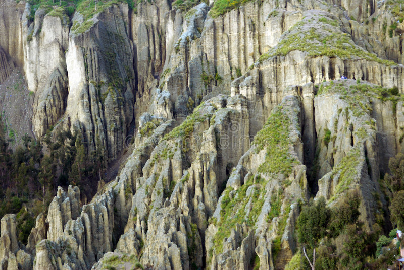 Erosión en el La Paz, Bolivia foto de archivo