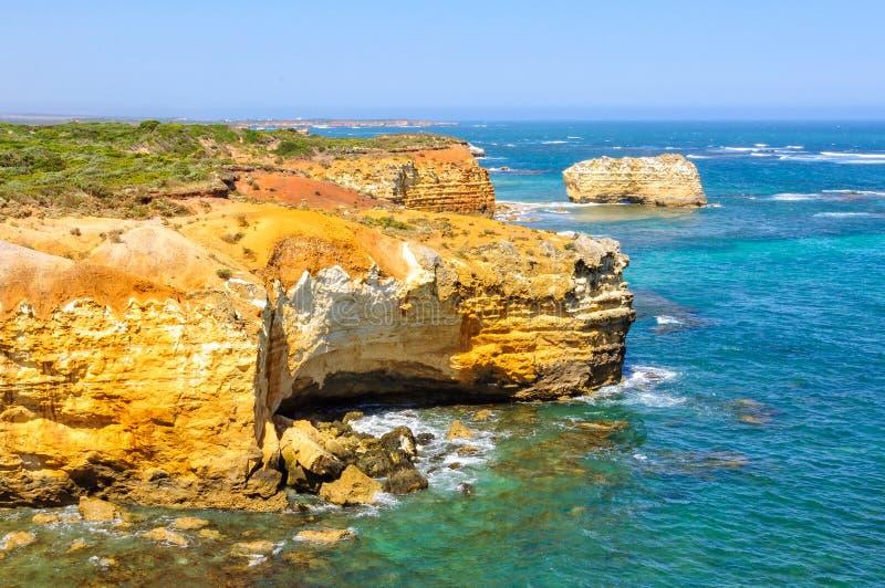Erosie - Baai van Martelaren stock fotografie