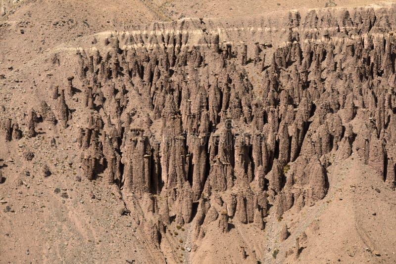 Erosie in een woestijn royalty-vrije stock afbeelding