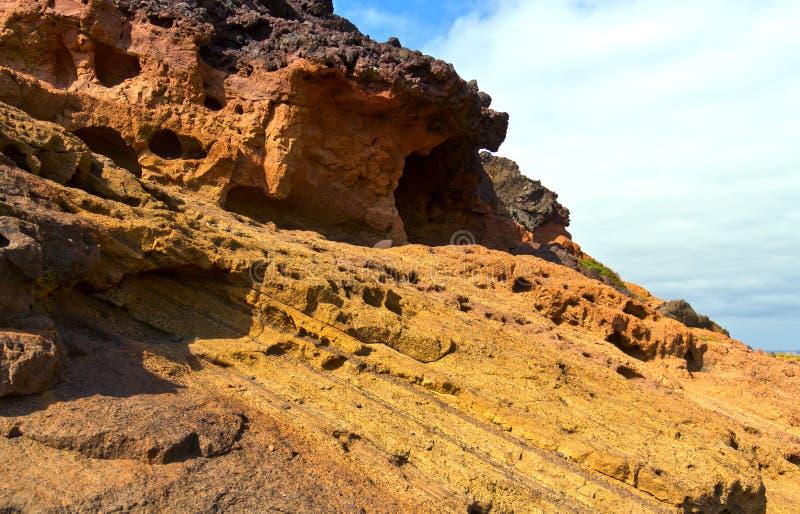 Erosie van de rots stock foto