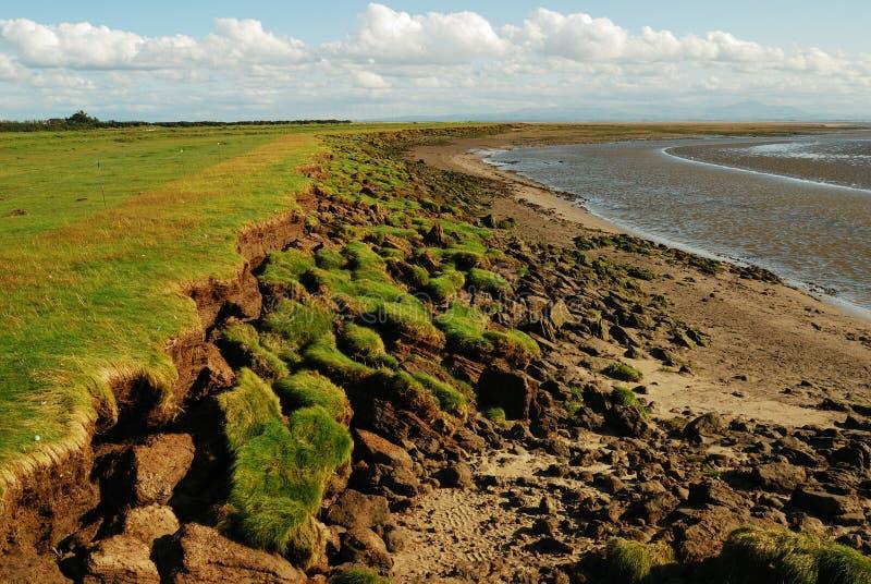 Erosie van oever, Kust Solway royalty-vrije stock foto's