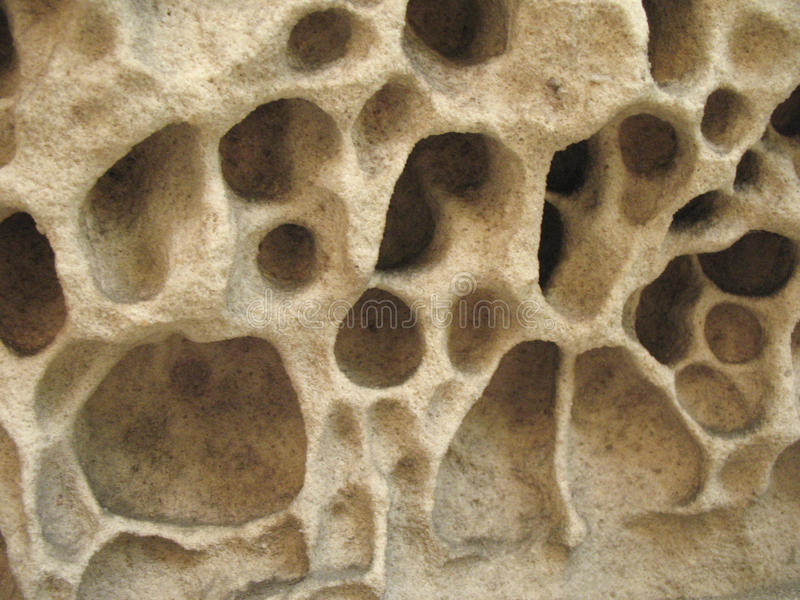 Erosion. Natural Pattern of Eroded Stone stock photo