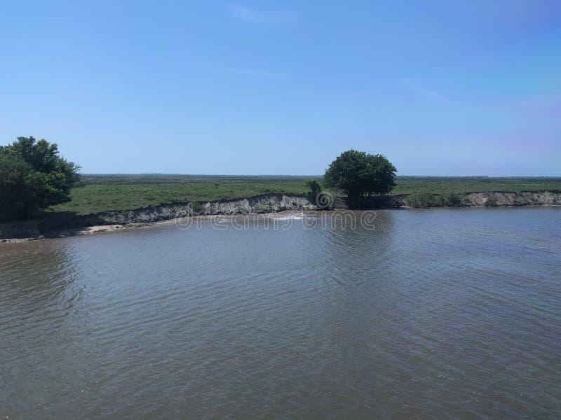 Erosion på GIWW royaltyfria foton