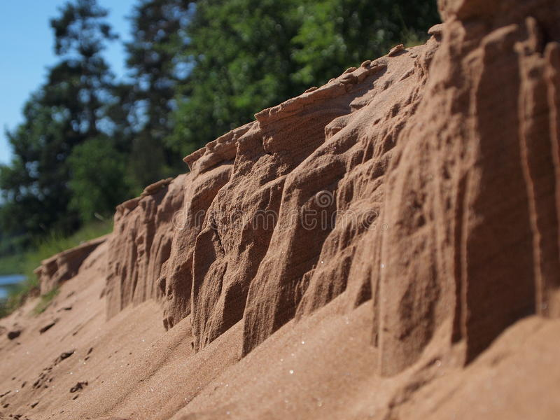 Download Erosion of sand closeup stock photo. Image of land, color - 38933562