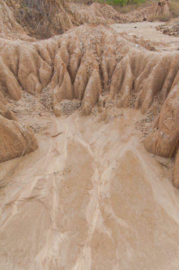 Erosion in Thailand. Soil erosion in Northern Thailand stock photo