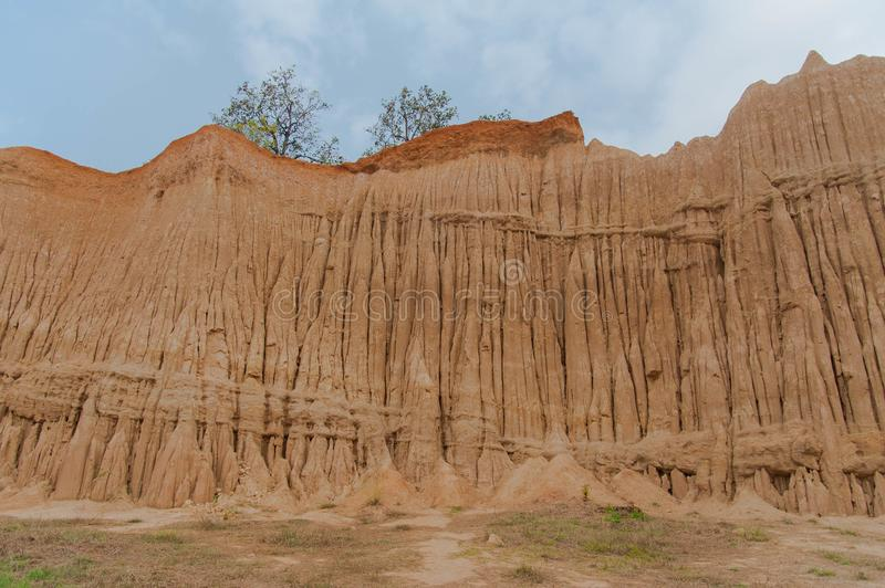 Erosion in Thailand. Soil erosion in Northern Thailand royalty free stock photography