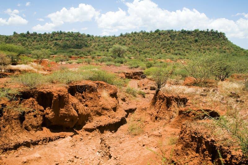 Erosione del suolo immagini stock libere da diritti
