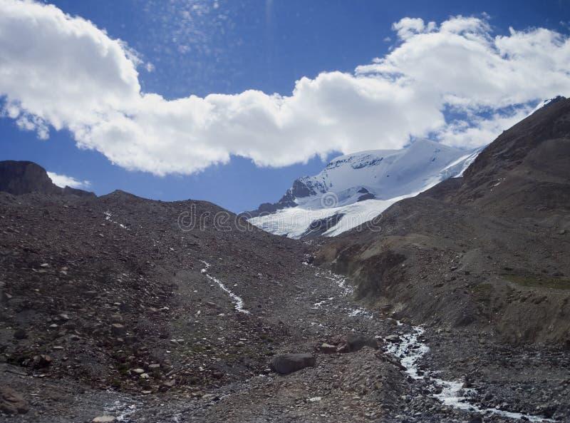 erosionglaciärer som smälter rockies royaltyfria foton