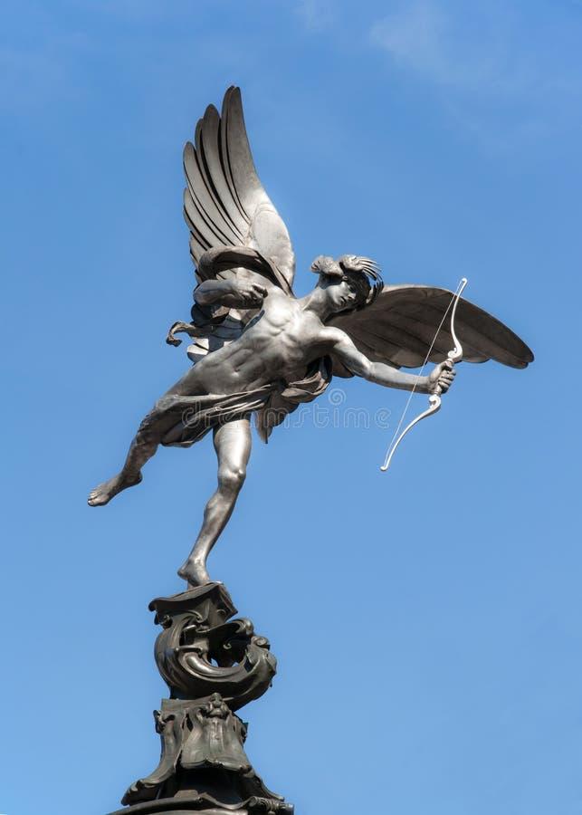 Erosstaty på den Piccadilly cirkusen, London royaltyfria foton