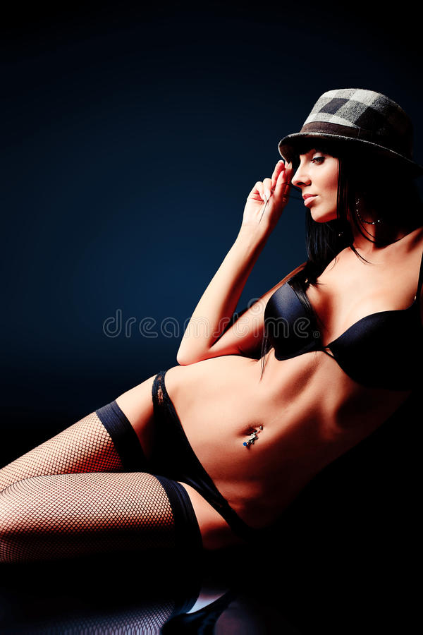 Download Erotic stock photo. Image of mystery, night, belly, attractive - 22921886