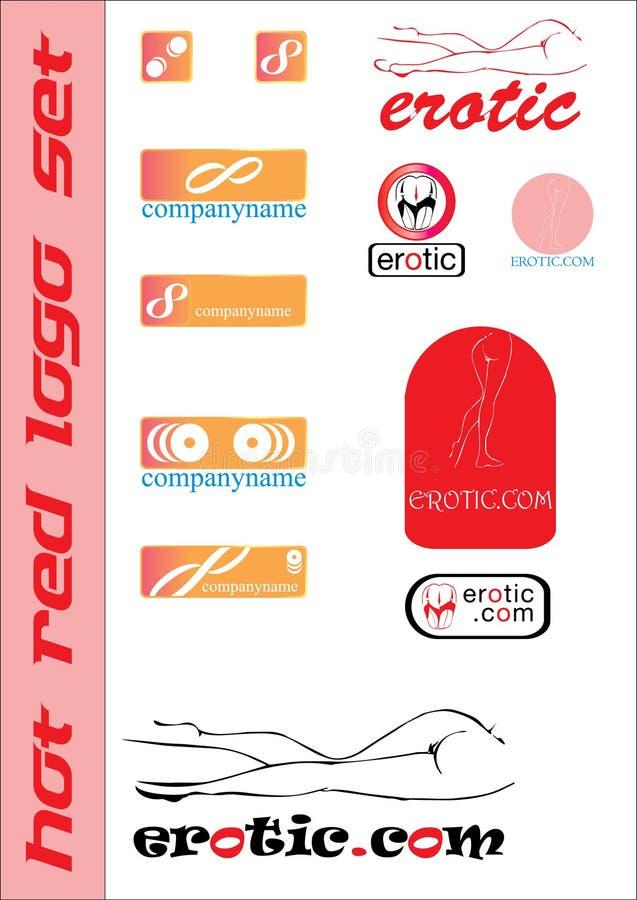 Erotic logo set stock photos
