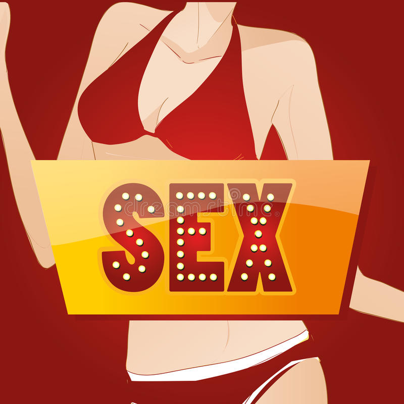 Erotisch lizenzfreie abbildung