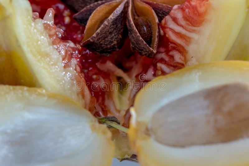 Erotisch van fruit stock afbeeldingen