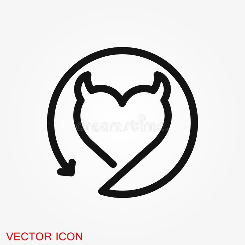 Erotische Ikone für Jugendverbotinhalt, flache Illustration stock abbildung