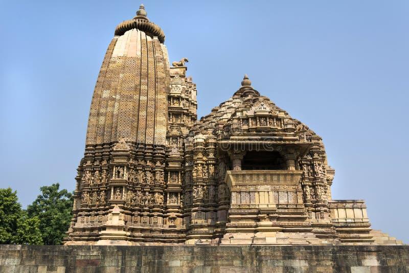 Erotische tempel van Khajuraho, India stock afbeeldingen