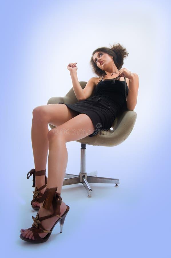 erotisk flicka arkivbild