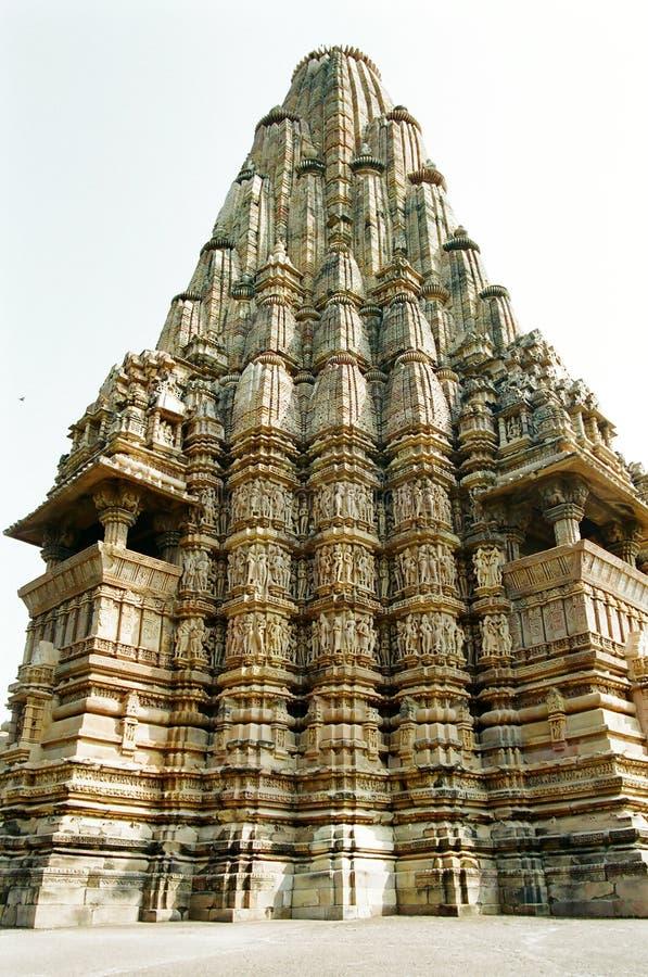 Erotiska India Khajurahotempel Royaltyfria Bilder