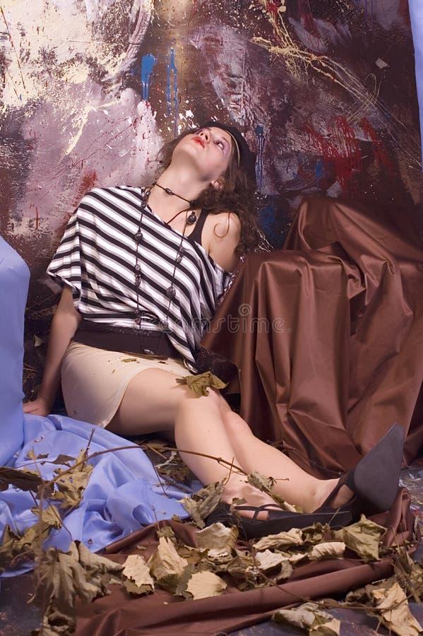erotiskt posera arkivbild