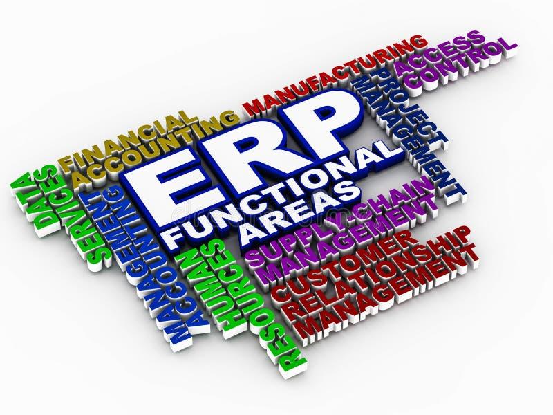 Erp功能区域 向量例证