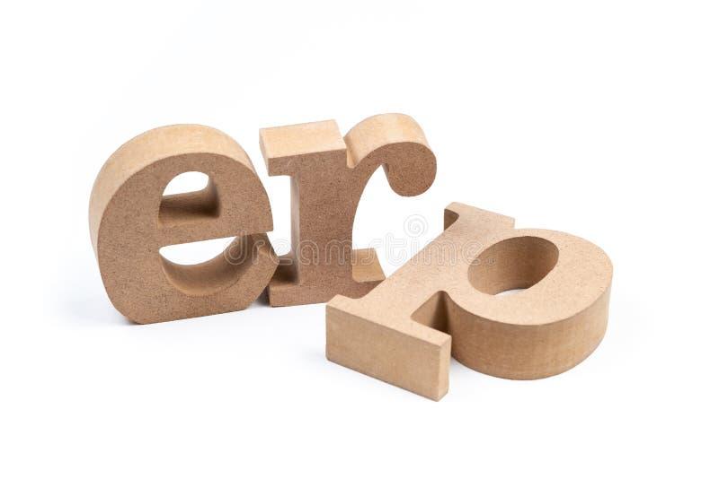 ERP字母表被隔绝的企业资源计划 免版税图库摄影