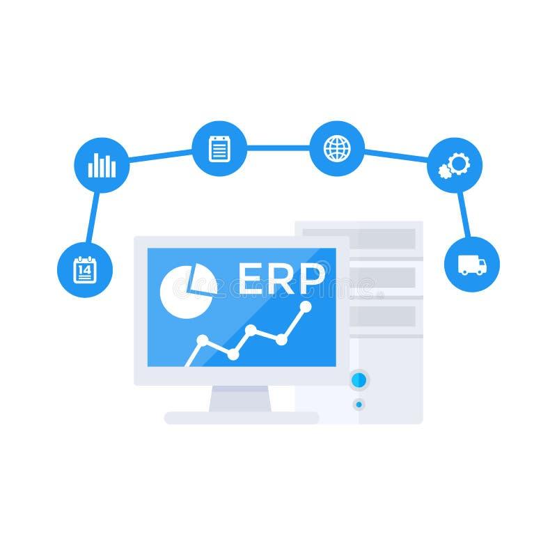 ERP软件传染媒介例证 向量例证