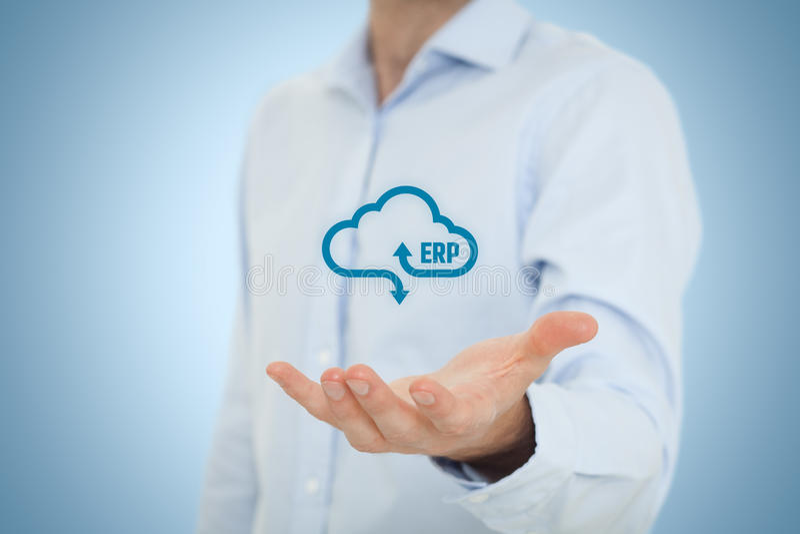 ERP come servizio della nuvola fotografia stock