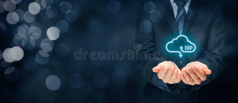 ERP como o serviço da nuvem fotografia de stock royalty free