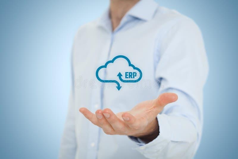 ERP como servicio de la nube foto de archivo