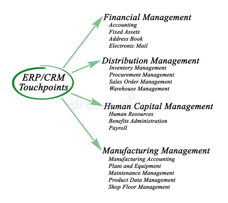 ERP/CRM Touchpoints libre illustration
