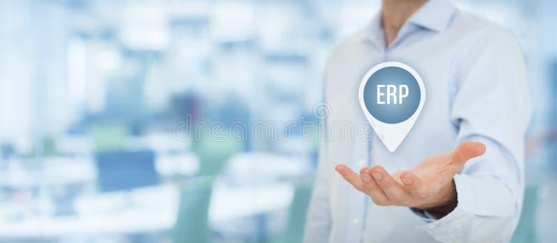 ERP de las hojas de operación (planning) del recurso de la empresa foto de archivo