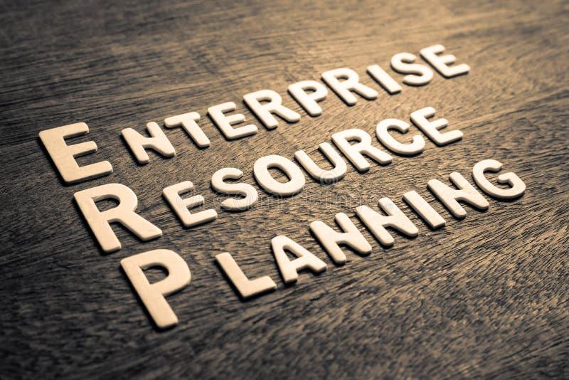 ERP de las hojas de operación (planning) del recurso de la empresa fotografía de archivo