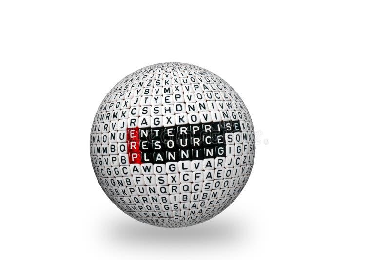 ERP przedsięwzięcia zasoby Planuje 3d zdjęcie stock