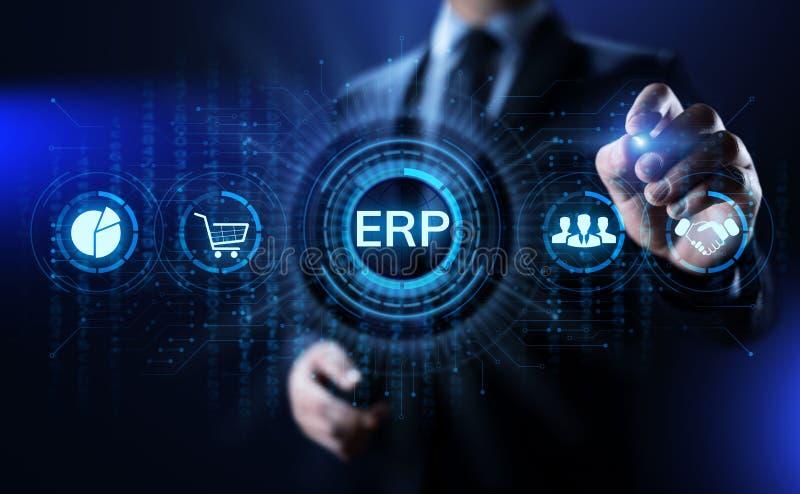 Erp-Unternehmensbetriebsmittel-Planungswesen-Software-Gesch?ftstechnologie lizenzfreies stockbild