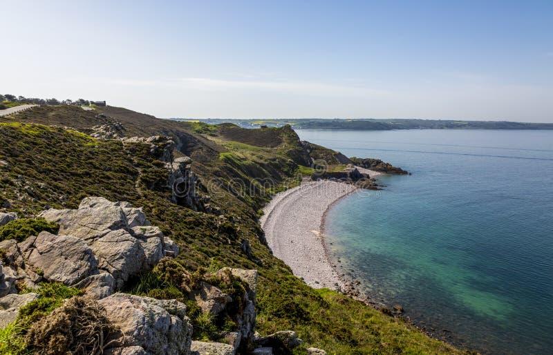 Erquy Cape in der Bretagne lizenzfreie stockfotos